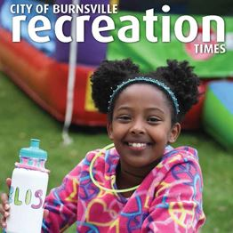 2021 Recreation Times cover featuring a smiling girl at the park