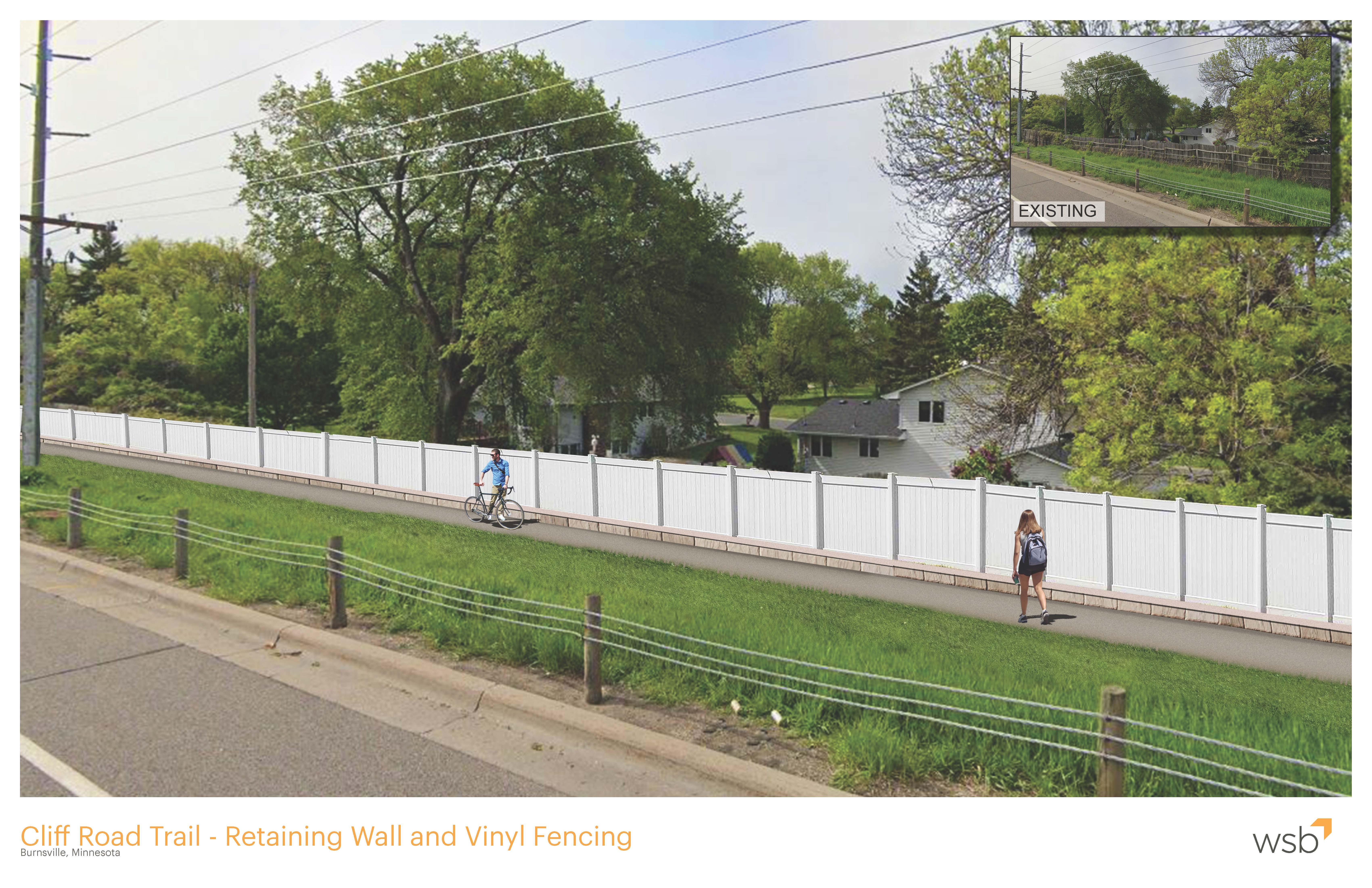 Cliff Road Trail Rendering
