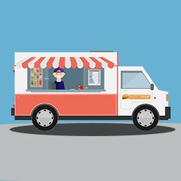 Illustration of food truck