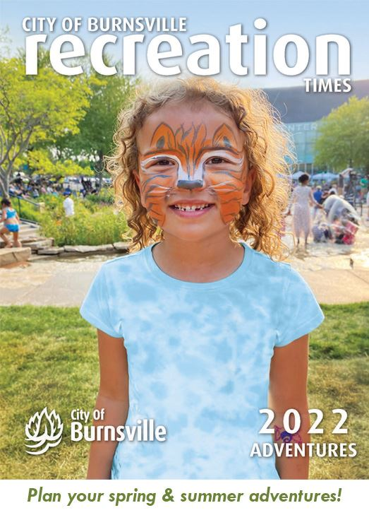 cover of the 2021 Burnsville Recreation Times