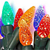 Colorful Christmas lights bulbs